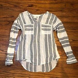 Cotton Tunic Stripped Shirt